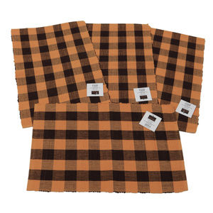 Buffalo Check Brown and Sandstone Place Mats Set 4